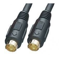 Vision Accessories GOLD S-Video S Video SVideo SVHS Lead Cable for DVD Player Ect to Television 1.5m