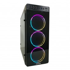 AXCELTEK GL-100 MIRROR  3x RGB Fans Midsize Tower