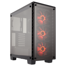 Corsair 460X RGB Crystal Series – Tempered Glass, 3x SP120 RGB LED Fan, Compact ATX Mid-Tower Case