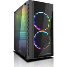 Casecom Gamming XM-91 Front & Side Transparent Temper glass Gaming CASE