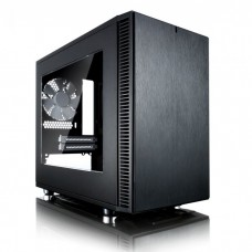 FRACTAL DESIGN DEFINE NANO S BLACK MINI ITX CASE, WINDOW, NO PSU
