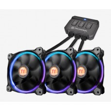 Thermaltake Riing 12 LED RGB 256 Colors High Static Pressure LED Radiator Fan With Controller (3 Fans Pack)