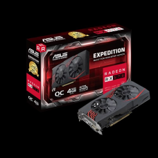 ASUS Expedition Radeon RX 570 OC edition 4GB GDDR5 for non-stop VR and 4K Gaming Graphic Card