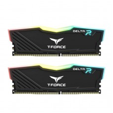 DDR4 TeamGroup T-Force Delta RGB 32GB (2x16GB) 3000MHz Gaming Memory- Black