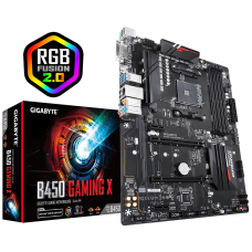 AM4 Gigabyte B450-GAMING-X ATX Motherboard for Gaming