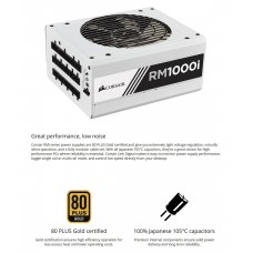 Corsair RM1000i 1000W Power Supply, White, OEM Packaging(No Retail Box) for Gaming