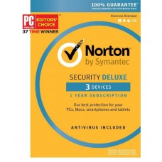 Norton Security Deluxe 3 Devices, 1 Year, Compatible with PC, MAC, Android, iOS